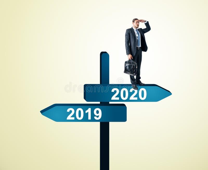 Hombre de negocios 2019, muestra 2020 ilustración del vector