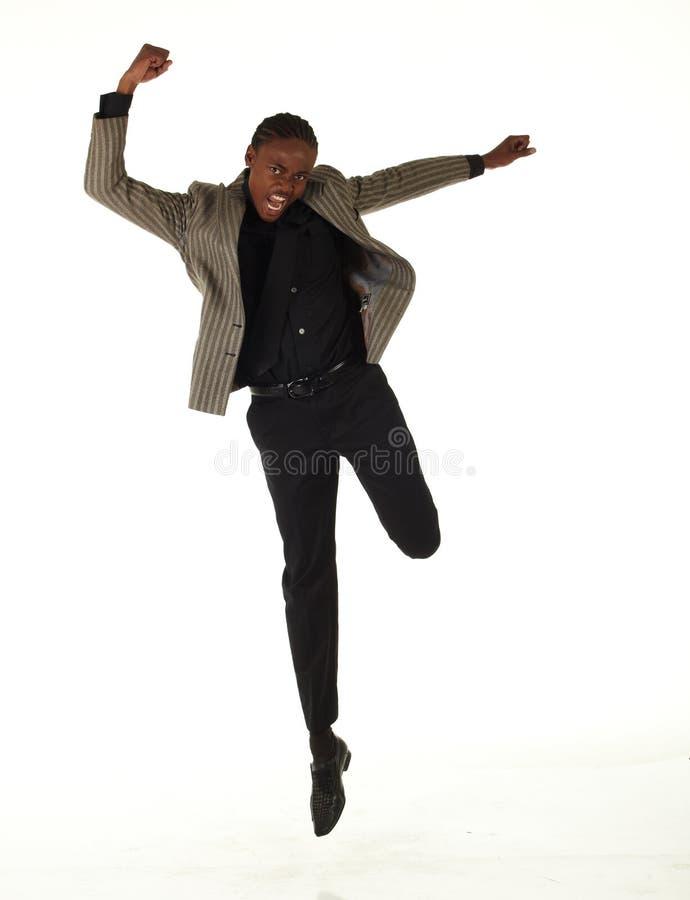 Hombre de negocios negro imagen de archivo