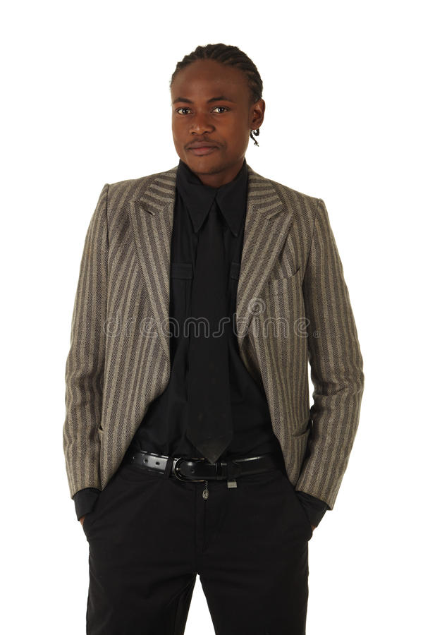 Hombre de negocios negro fotos de archivo