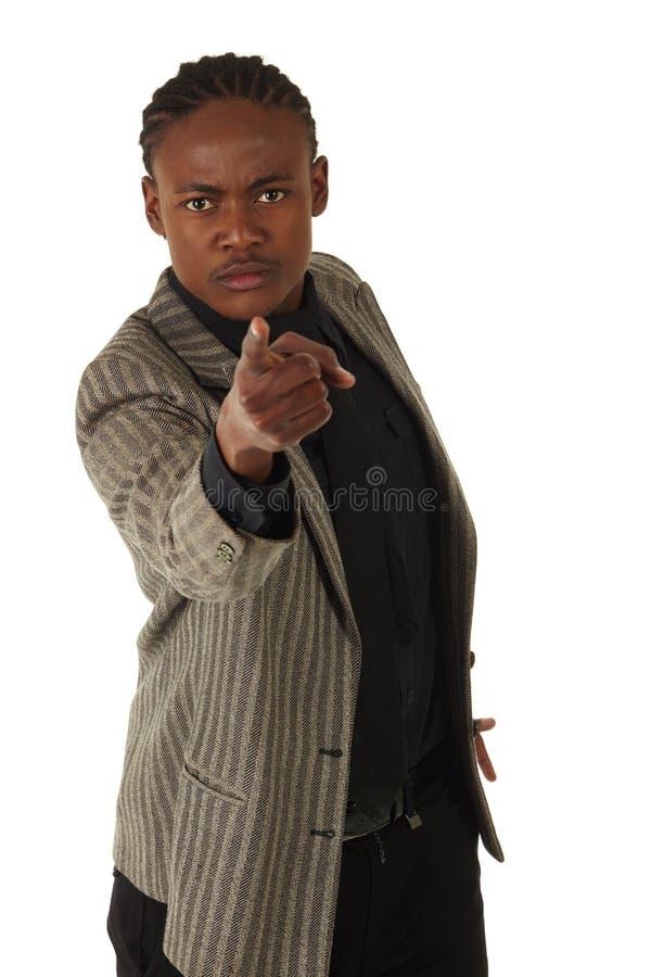 Hombre de negocios negro imagen de archivo libre de regalías