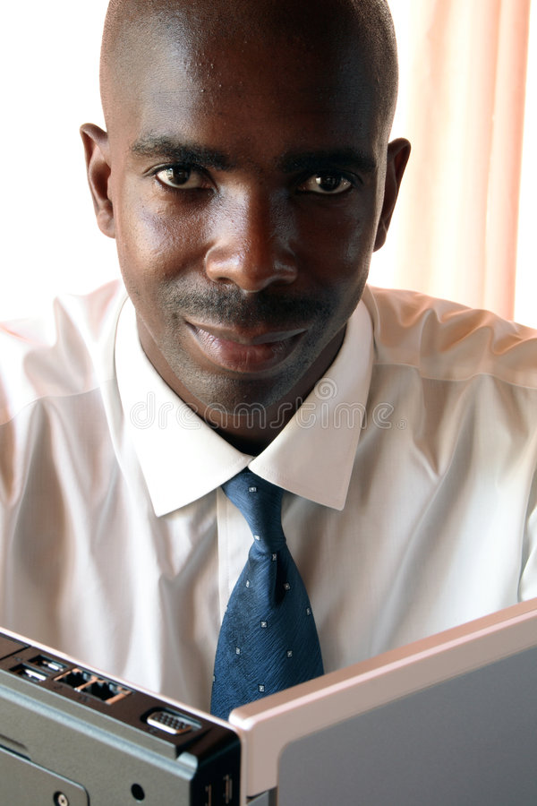 Hombre de negocios negro fotografía de archivo libre de regalías