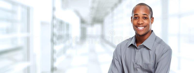 Hombre de negocios negro fotografía de archivo