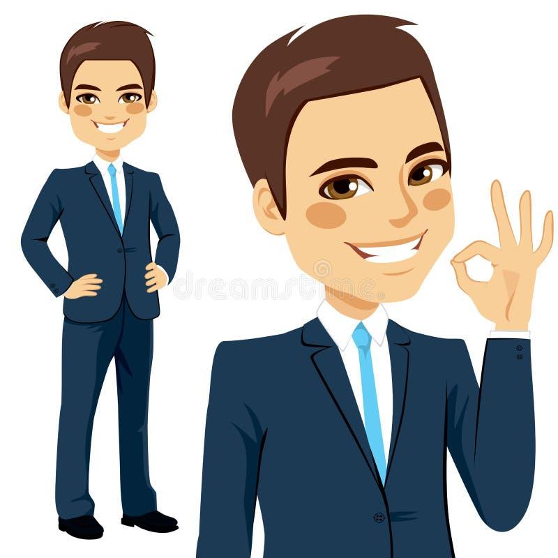 Hombre de negocios Okay Sign ilustración del vector