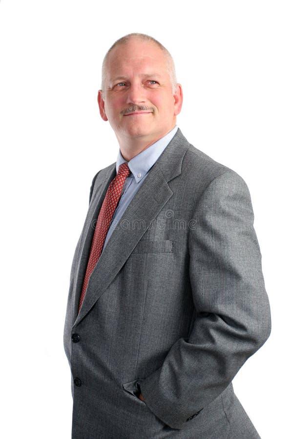 Hombre de negocios optimista fotos de archivo