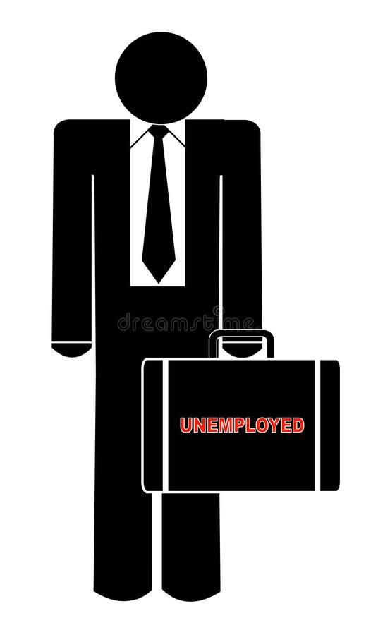 Hombre de negocios parado stock de ilustración