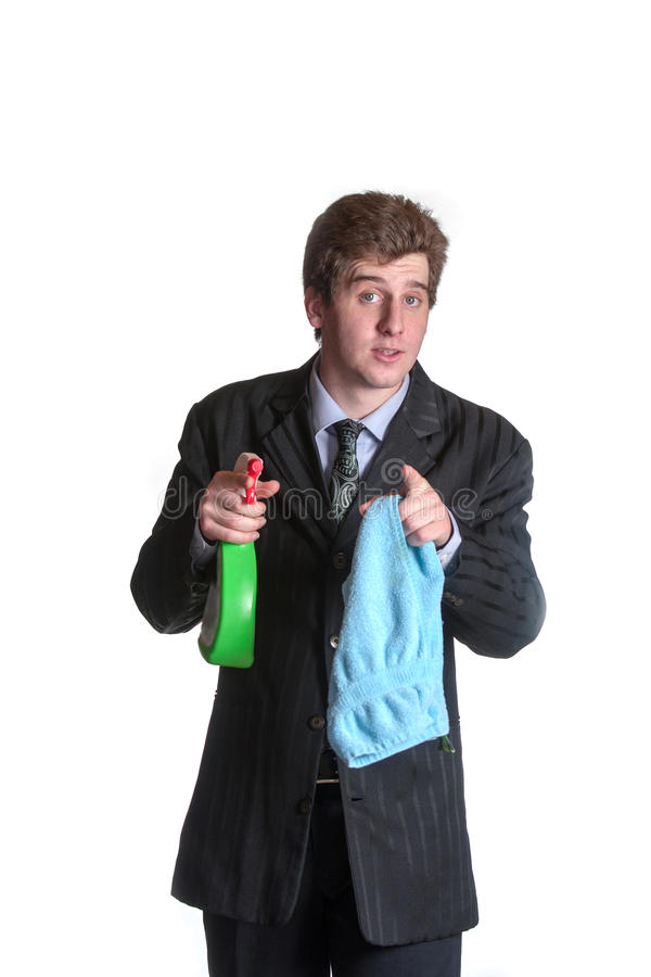 Hombre de negocios parado joven imagen de archivo libre de regalías
