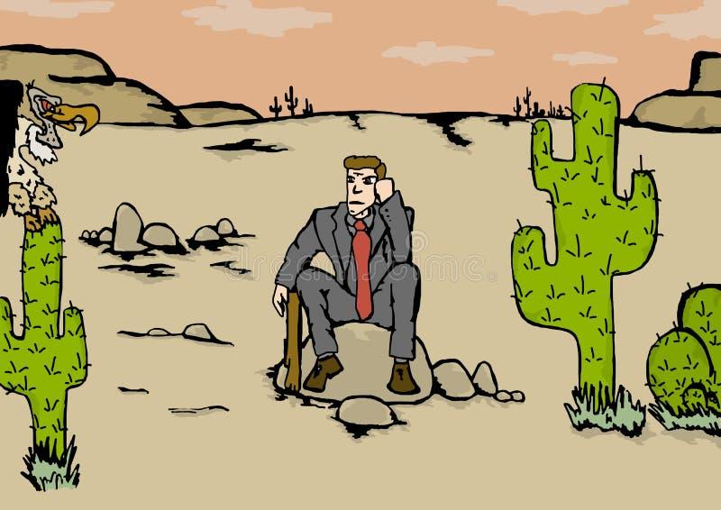 Hombre de negocios perdido stock de ilustración