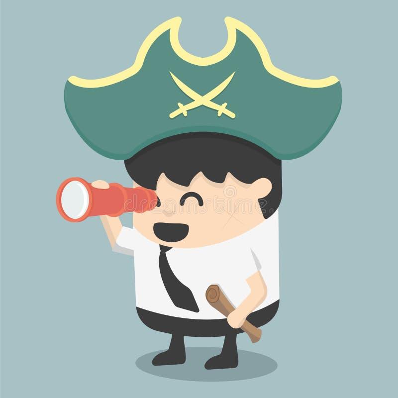 Hombre de negocios Pirates la caza libre illustration