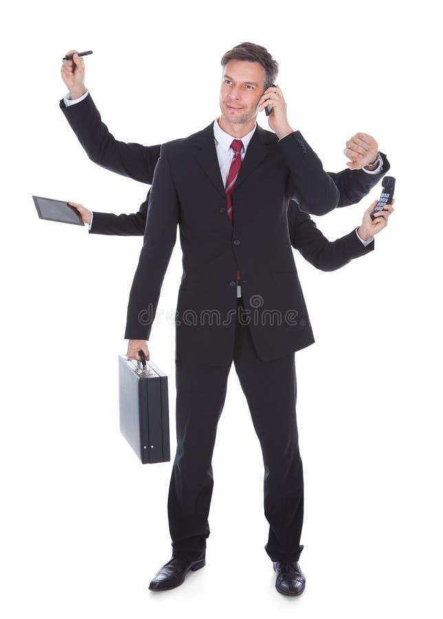 Hombre de negocios polivalente fotos de archivo libres de regalías