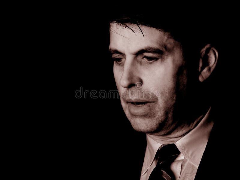 Hombre de negocios preocupante imagenes de archivo