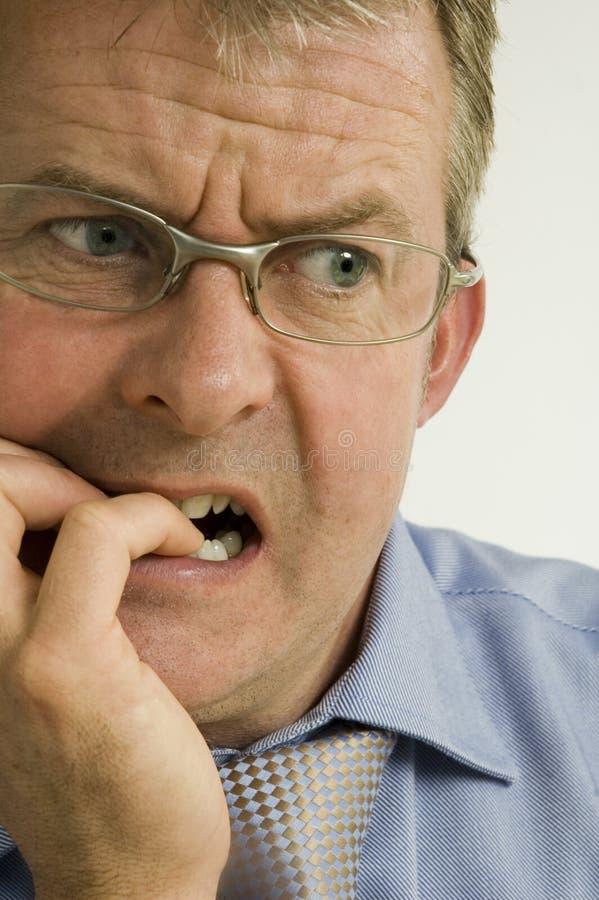Hombre de negocios preocupante fotografía de archivo libre de regalías