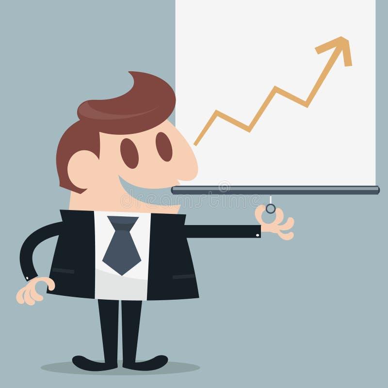 Hombre de negocios presentado libre illustration