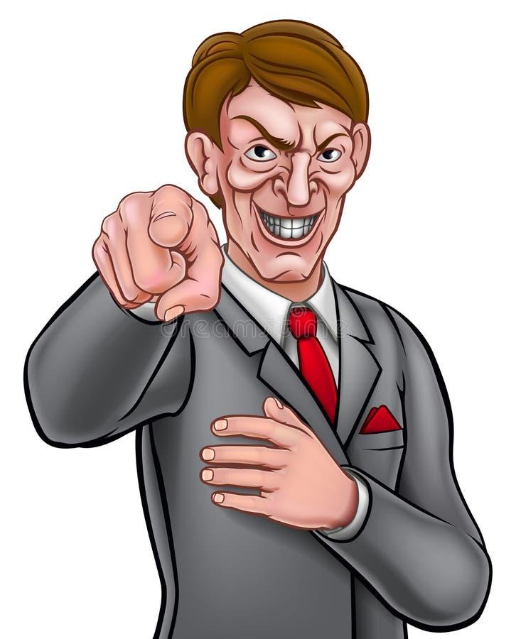 Hombre de negocios punteagudo malvado libre illustration