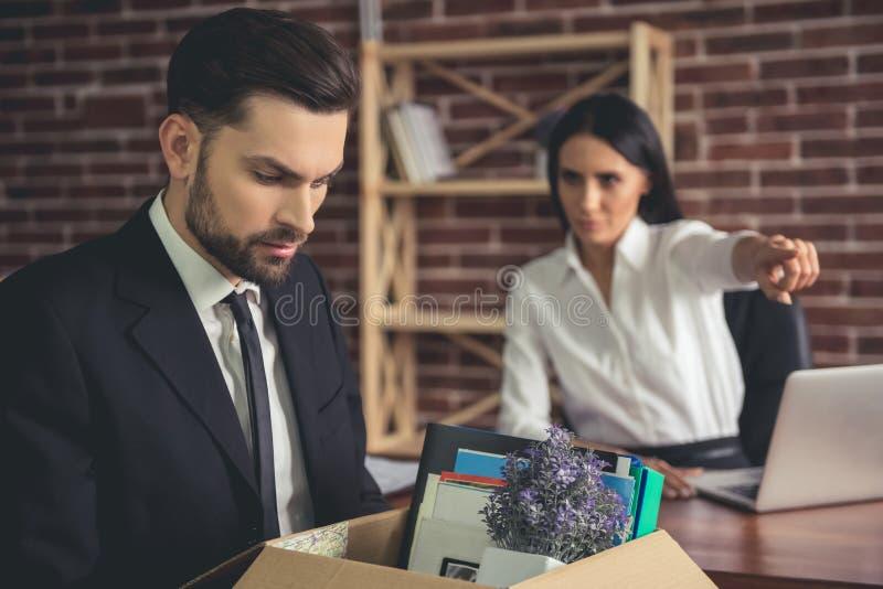 Hombre de negocios que consigue encendido imágenes de archivo libres de regalías