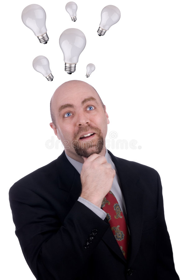 Hombre de negocios que consigue una idea imagen de archivo