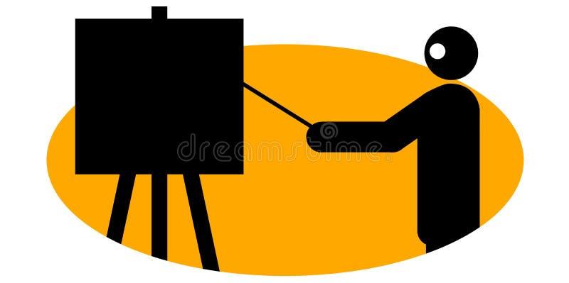Hombre de negocios que da la presentación libre illustration