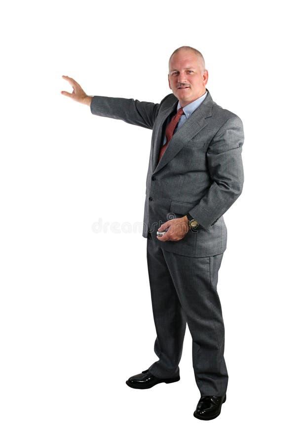 Hombre de negocios que da la presentación imagen de archivo libre de regalías