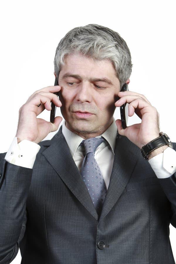 Hombre de negocios bajo presión imagenes de archivo