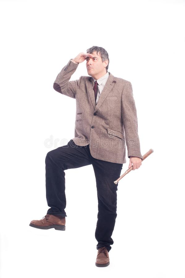 Hombre de negocios que mira al horizonte fotos de archivo libres de regalías