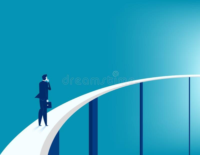 Hombre de negocios que mira el camino para el éxito empresarial BU del concepto libre illustration