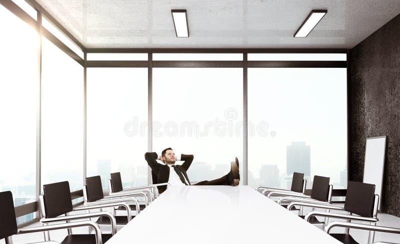 Hombre de negocios que se relaja fotos de archivo