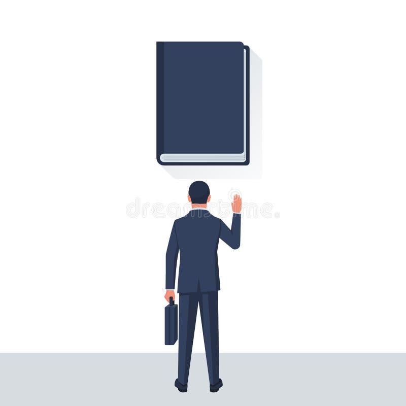 Hombre de negocios que toma juramento libre illustration