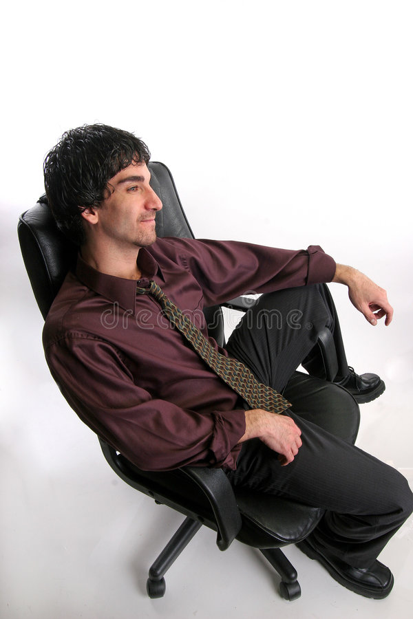 Hombre de negocios relajado foto de archivo