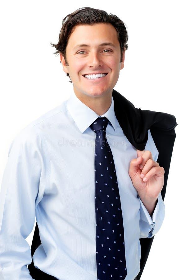 Hombre de negocios relaxed amistoso fotos de archivo
