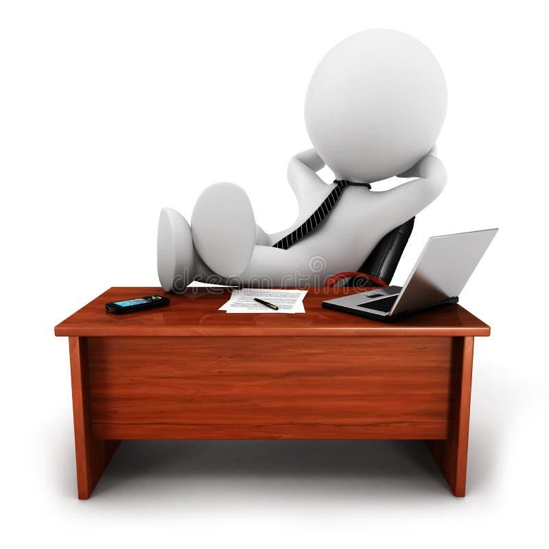 hombre de negocios relaxed de la gente blanca 3d ilustración del vector