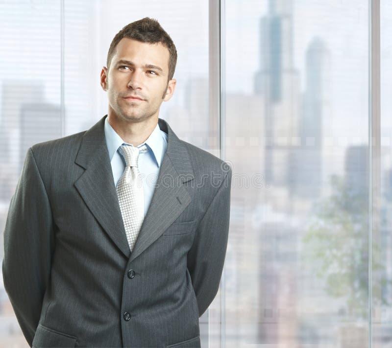 Hombre de negocios resuelto foto de archivo