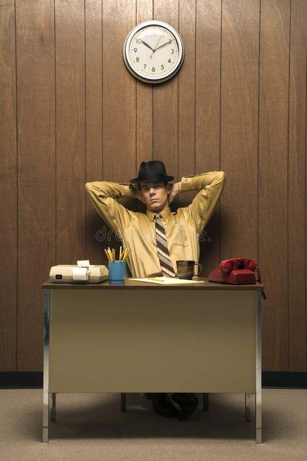Hombre de negocios retro fotografía de archivo