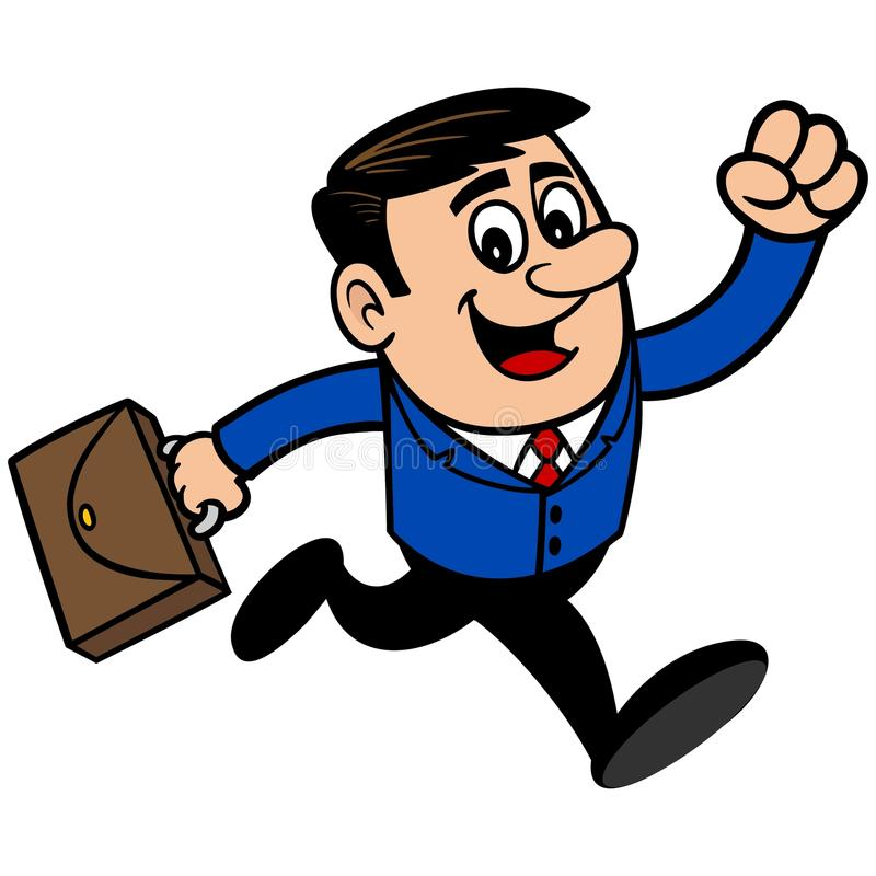 Hombre de negocios Running stock de ilustración
