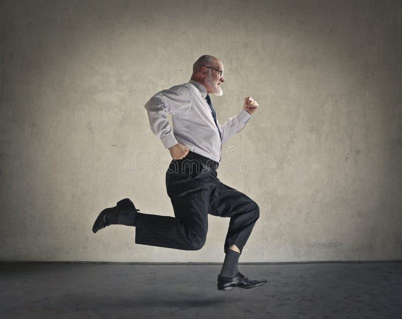 Hombre de negocios Running fotografía de archivo libre de regalías