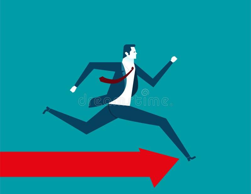 Hombre de negocios Running ilustración del vector