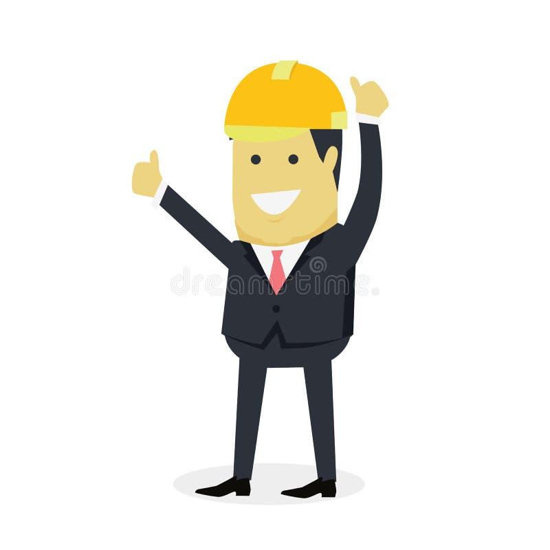 Hombre de negocios Show Gesture Thumb para arriba libre illustration