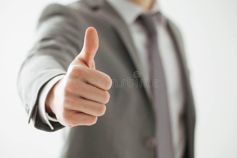Hombre de negocios Showing Thumbs Up fotos de archivo