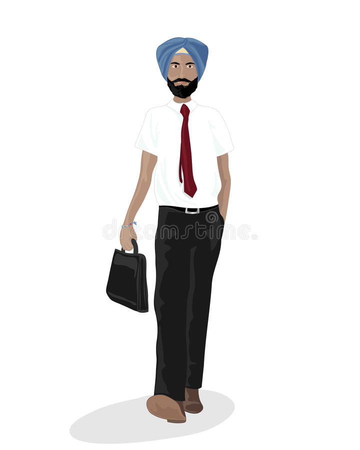 Hombre de negocios sikh ilustración del vector