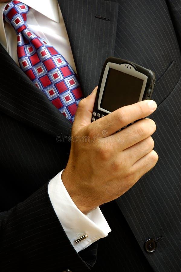 Hombre de negocios sin hilos fotos de archivo