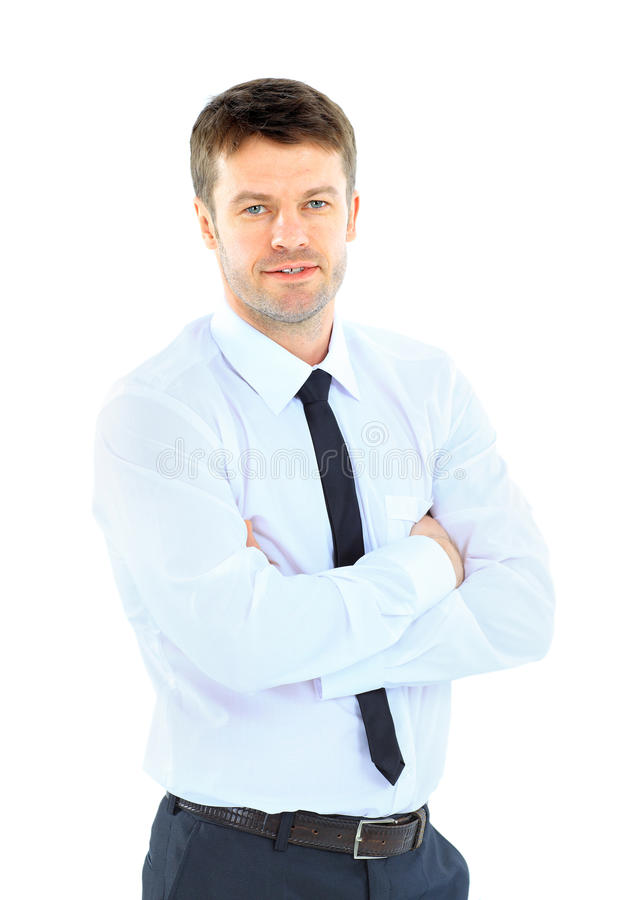 Hombre de negocios sonriente foto de archivo