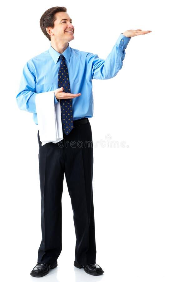 Hombre de negocios sonriente imagen de archivo
