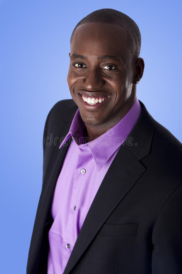 Hombre de negocios sonriente feliz del afroamericano fotografía de archivo