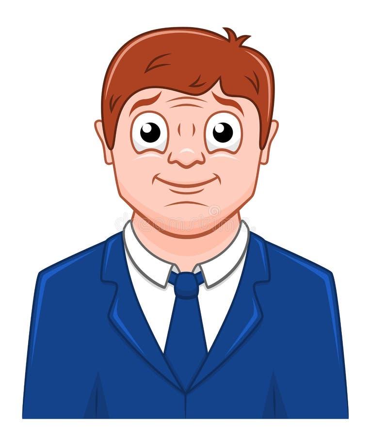 Hombre de negocios sonriente de la historieta ilustración del vector