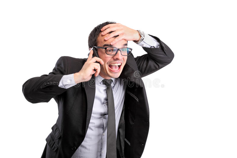Hombre de negocios sorprendido fotos de archivo