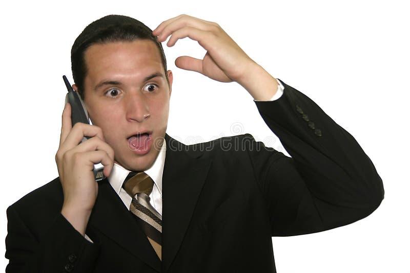 Hombre de negocios sorprendido imagenes de archivo
