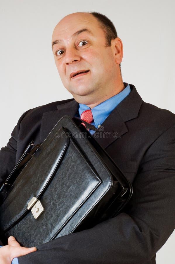 Hombre de negocios sorprendido alegre imagen de archivo libre de regalías