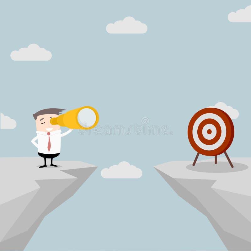 Hombre de negocios Spyglass Target libre illustration