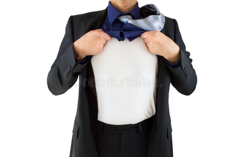 Hombre de negocios Superhero imagenes de archivo