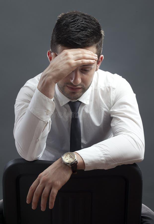 Hombre de negocios tensionado foto de archivo libre de regalías