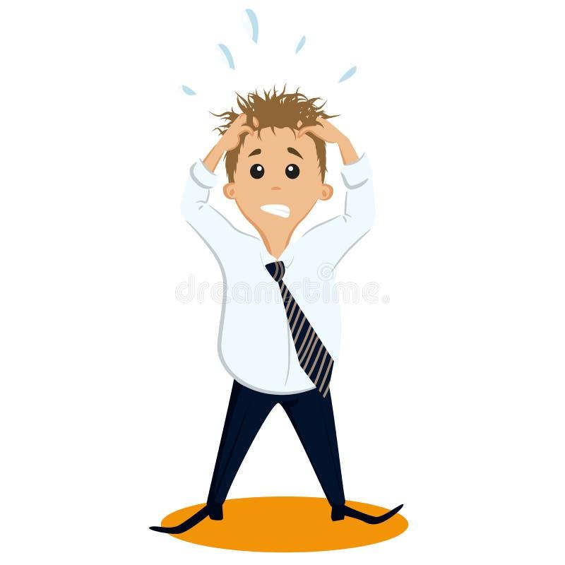 Hombre de negocios tensionado ilustración del vector