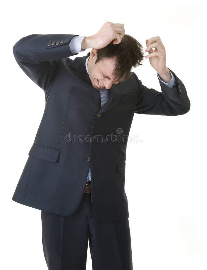 Hombre de negocios tensionado fotografía de archivo